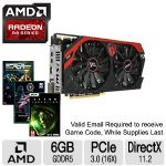 Click to view: MSI AMD Radeon R9 280X 6GB Gaming Graphics Card - 6GB GDDR5, PCIe 3.0 (16X), DirectX 11.2, OpenGL 4.3 -  R9 280X GAMING 6G - (3 FREE Games up to $160 value after purchase, limited offer)!