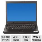 "Click to view: Dell Latitude E6400 Notebook PC - Intel Core 2 Duo 2.53GHz, 4GB DDR2, 160GB HDD, DVD, 14.1"" Display, Windows 7 Professional 64-bit (Off-Lease)  - RB-DELLNB00310003!"
