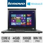 Click to view: Lenovo ThinkPad T430 Notebook PC - 3rd generation Intel Core i5-3320M 2.6GHz, 4GB DDR3, 500GB HDD, DVDRW, 14