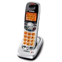 Click to view: Uniden DCX150 Accessory Handset - DECT 6.0, Speakerphone, Clock Display, Backlit Display, Silver/Black!