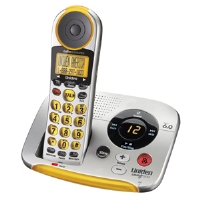 Click to view: Uniden EZAI2997 Cordless Phone System - DECT 6.0, 1 Handset, Backlit Display, Caller ID Announce, Digital Answering System, Silver/Black/Yellow!