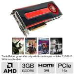 Click to view: VisionTek 900491 Radeon HD 7970 Video Card - 3072MB, GDDR5, PCI-Express 3.0 (x16), 1x Dual-Link DVI-I, 2x Mini DisplayPort, 1x HDMI, DirectX 11, Dual-Slot, Eyefinity, CrossFireX Ready!