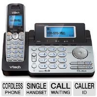 Click to view: VTECH VT-DS6151 Cordless Digital Answering System - Caller ID, Call Waiting, DECT 6.0, 1.9GHz, Eco-Friendly!
