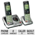 Click to view: Vtech 2-handset Cordless CID/ITAD Phone - Caller ID, Handset Speakers, Backlit Keypad, Quiet Mode, Intercom w/ Handset & Base, Table & Wall Mountable, Remote Access  - VT-CS6629-2!