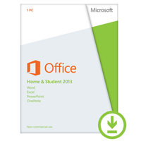 Click to view: Microsoft Office Home and Student 2013 - License - 1 PC - non-commercial - download - 32/64-bit, ESD - Win - English!