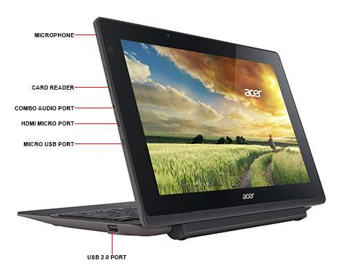 Image Callout - Acer Aspire Switch 10 E SW3-013-185Z - Tablet - with keyboard dock