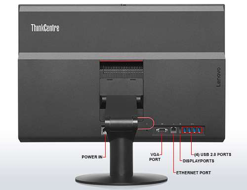 Image Callout - Lenovo ThinkCentre M900z 10F3 - UltraFlex II stand - all-in-one