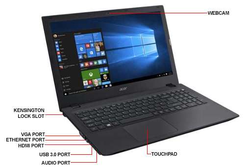 Image Callout - Acer TravelMate P258-M-39D1 Notebook PC