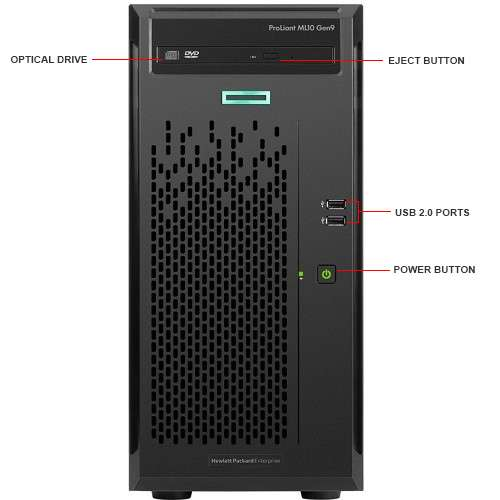 Image Callout - HPE ProLiant ML10 Gen9 Tower Server