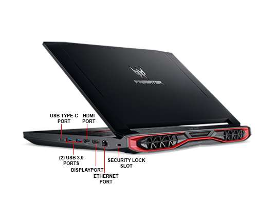 Image Callout - Acer Predator 15 G9-593-74WY - Core i7 7700HQ / 2.8 GHz - Win 10 Home 64-bit - 16 GB RAM - 512 GB SSD - DVD SuperMulti - 15.6