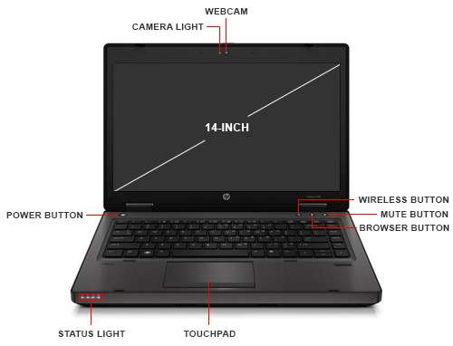Image Callout - HP ProBook 6470B Notebook