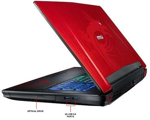 "Image Callout - MSI GT72VR Dominator Pro Dragon-638 17.3"" Gaming Laptop"