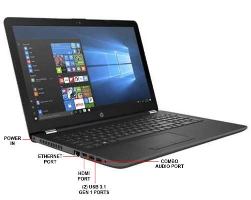Image Callout - HP 15-bs020nr Notebook - Intel Core i3-6006U 2GHz Dual-Core, 4GB DDR4 SDRAM, 1TB HDD 5400rpm SATA, 15.6