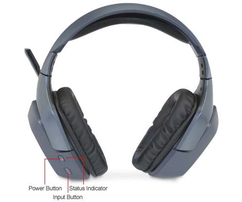 logitech wireless headset f540 compatible with xbox 360 and playstation 3 ps3 consoles. Black Bedroom Furniture Sets. Home Design Ideas