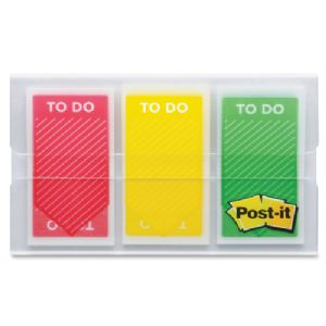 3M Post-it To Do Flags - 1 Arrow Red Yellow Green Repositionable Remov