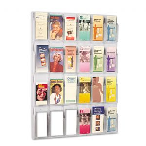 Safco® Reveal™ Clear Literature Displays