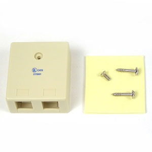 Belkin 2-Position Surface Mounting Box - Ivory (F4E485)