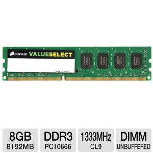 Corsair 8GB DDR3 Memory