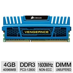 Corsair Vengeance 4GB DDR3 Desktop Memory Module