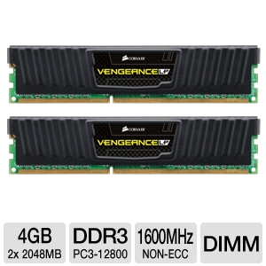 Corsair Vengeance LP 4GB DDR3 Desktop Memory Kit