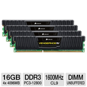 Corsair Vengeance LP 16GB DDR3 Desktop Memory Kit
