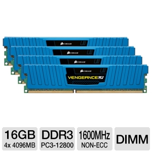 Corsair Vengeance LP Blue 16GB DDR3 Desktop Memory
