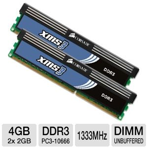 Corsair XMS3 4GB Dual Channel DDR3 RAM