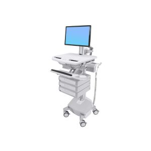 Ergotron StyleView Cart with LCD Pivot LiFe Powered 3 Drawers - Cart f