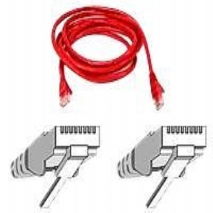 Belkin FastCAT patch cable - 25 ft - red