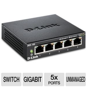 D-Link 5-Port Unmanaged 10/100/1000 Switch