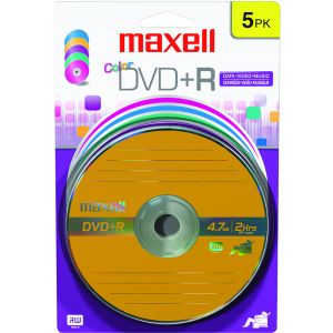 4.7GB DVD+RS (5 PK COLOR CARDED)