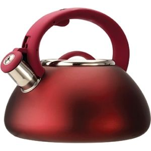 Primula Avalon 2.5 Qt Whistling Kettle - Matte Red