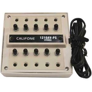 Ergoguys Califone 10-Position Stereo Jack Box (1210AVPS)