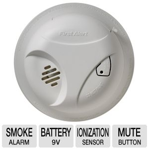 First Alert Battery Operated White Smoke Alarm