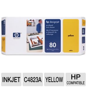HP 80 Yellow Printhead and Cleaner