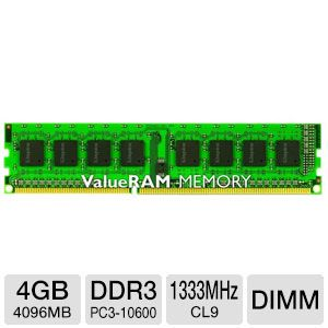 Kingston ValueRAM 4GB Desktop Memory Module