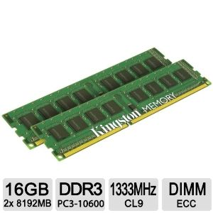 Kingston ValueRAM 16GB Memory Module Kit