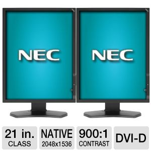 NEC (2) 21 3MP Medical Displays w/ Graphics Card