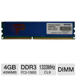 Patriot 4GB Desktop Memory Module