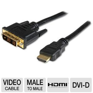 StarTech 6ft HDMI to DVI-D Video Cable
