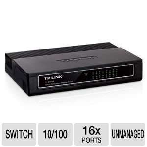 TP-Link 16 Port 10/100 Desktop Unmanaged Switch