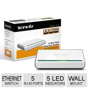 Tenda 5 Port Ethernet 10/100 Switch - S105