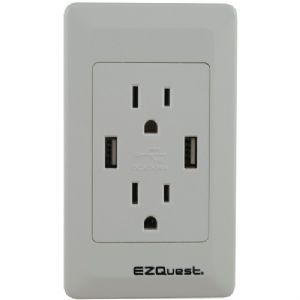 2-OUTLET 2-PORT 2.1-AMP PLUG and CHARGE