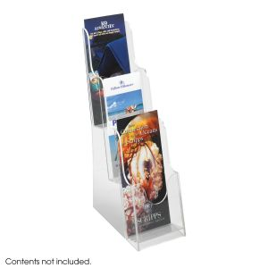 Acrylic 3 Pocket Pamphlet Display - Clear