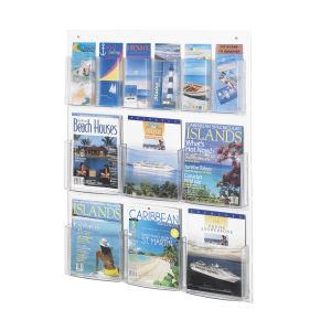 See-Thru 6 Magazine and 6 Pamphlet Display