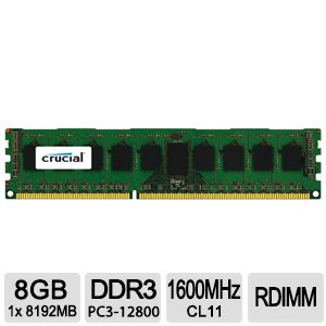 Click here for Crucial 8GB Server Memory Module prices