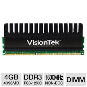 VisionTek 4GB DDR3-1600MHz Performance Memory