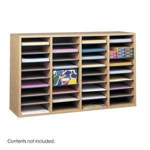 Safco® Adjustable Compartment Wood Liter