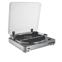 Audio Technica Fully Automatic Stereo Turntable System - Fully Automatic Belt-Drive, Aluminum Platter, Dual Magnet Phono Cartridge, DC Servo Controlled, RCA Output Cables - AT-LP60 for sale Now
