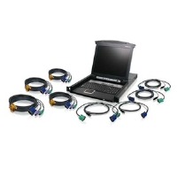 Iogear 8-Port LCD Combo KVM Switch with Cables